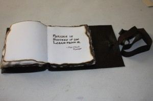 Leather Book Quote