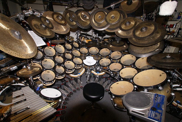 Terry Bozzio's Huge drumkit