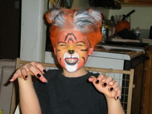 Shayla as a fierce tiger