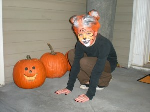 Shayla with pumpkins