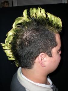 Kawika as a punk